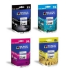 LC980 LC1100 BLACK POINT Multipack CMYK (+120 proc. wyd.) zamienniki tusze Brother LC980 LC1100 (+100 proc. wyd.) - Tusz Brother DCP145, DCP165C MFC25